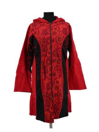 Nepalese jas rood zwart