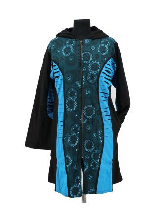 Nepalese jas zwart turqoise