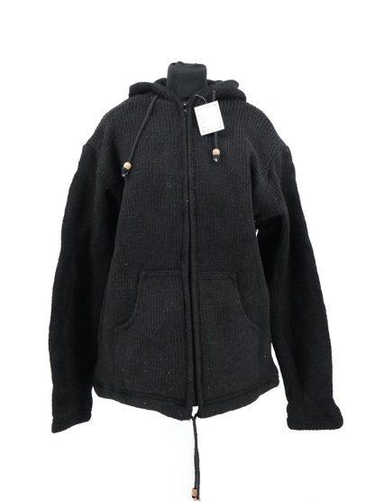 zwart wollen vest