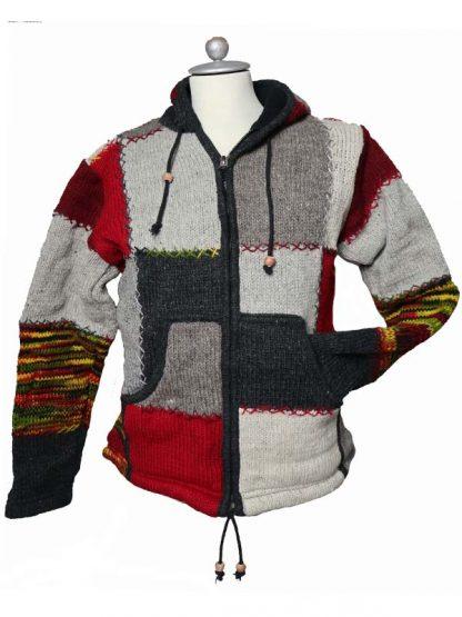 Wollen vest patchwork