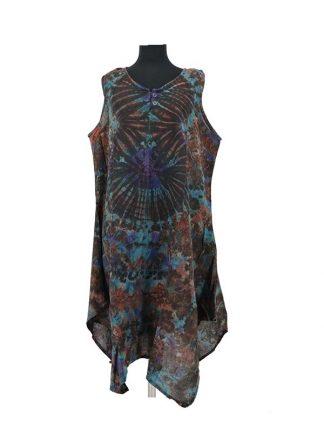 Bruine tie dye jurk