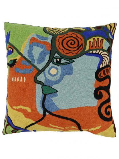 Kleurrijk abstract kussen