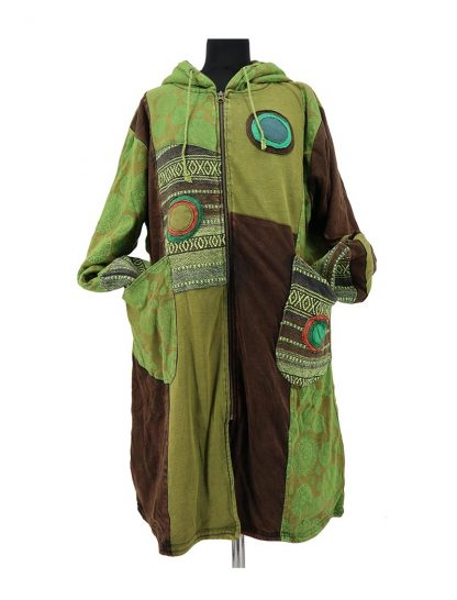 Lange groene jas