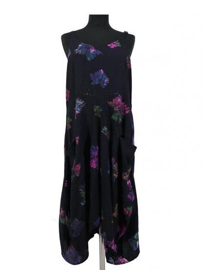 batik jurk Lisa zwart