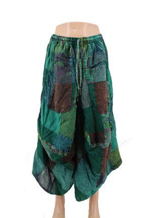patchwork rok groen