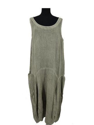jurk mix linnen katoen