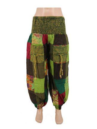 patchwork indiabroek groen a