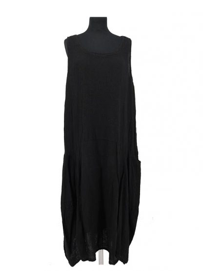 zwarte jurk linnen katoen