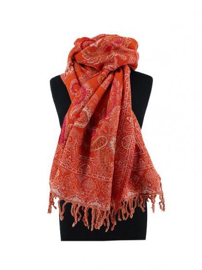 warme oranje sjaal