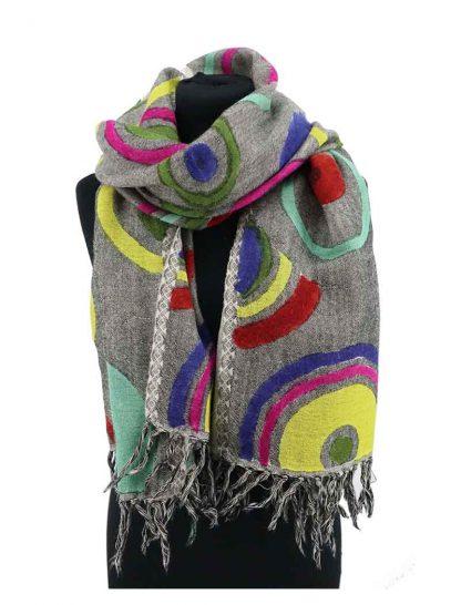 wollen sjaal met rondjes